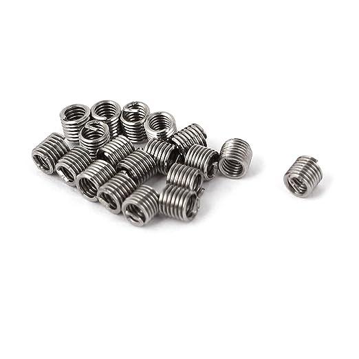 sourcingmap® 20 piezas de acero inoxidable 304 Helicoil ...