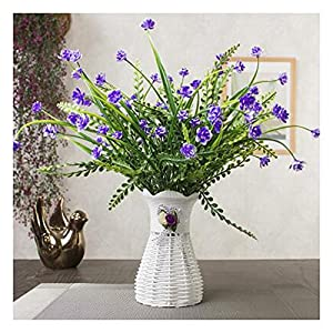 LuckySHD Artificial Floral Fake Flowers Bouquet with Vase for Home Decoration 95