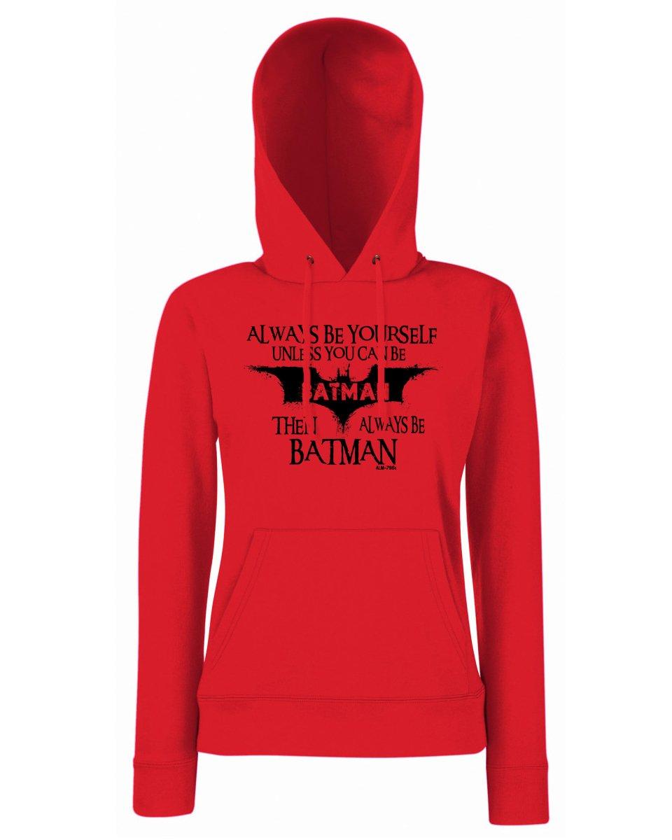 Always Be Batman-Hoodie-Womens Funny Sayings Slogans Hoodies StarliteFunnyShirts