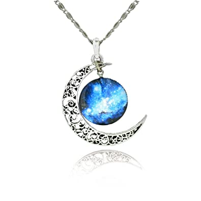 star david pendant jewish hamsa magen silver blue necklace opal chain