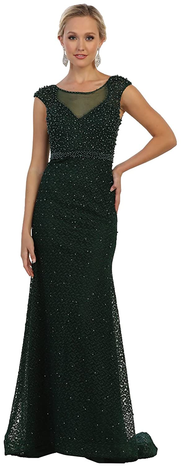 Hunter Green Formal Dress Shops Inc Royal Queen RQ7557 Red Carpet Evening Formal Dress