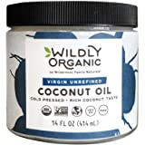 Wildly Organic Coconut Oil - Virgin Unrefined (Same as Extra Virgin) Cold Pressed, Non-GMO, Vegan, Raw - 14 FL OZ