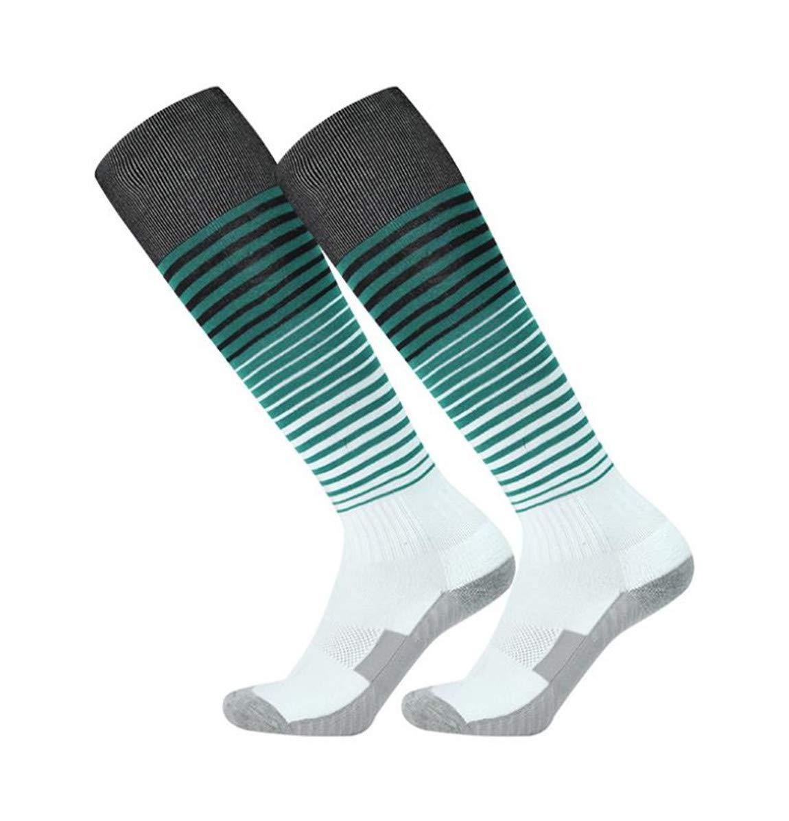 ACVIP Unisex Adult Stripe Knee High Sports Tube Socks for Football Soccer Hockey