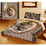 Wild Star Home Steampunk Dragon Duvet & Pillows Case Covers Set for Queensize Bed Artwork by Anne Stokes 5
