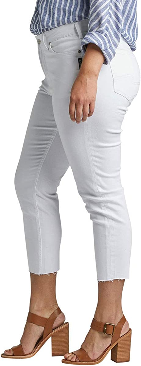 Womens Plus Size Avery Curvy Fit High Rise Skinny Crop Jeans Silver Jeans Co