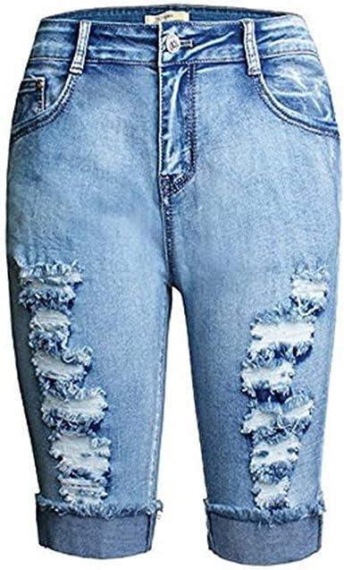 Haidean Mujer Hombre Pantalones De Estiramiento Jeans Mezclilla Skinny Pantalones Modernas Casual De Mezclilla Pantalones Capri Boton Con Bolsillos Acogedores Pantalones Casuales Amazon Es Ropa Y Accesorios