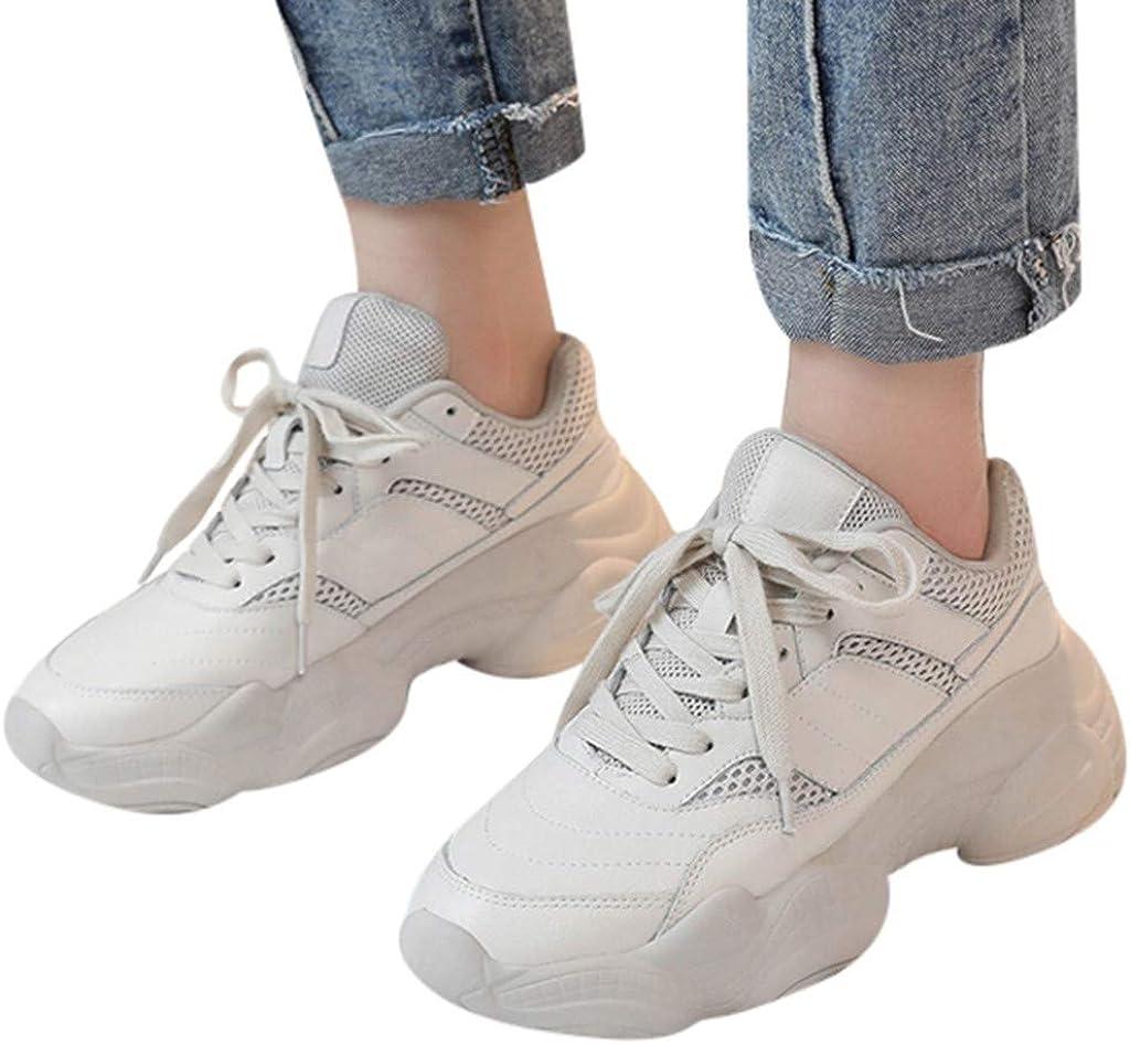 Chunky Sneakers for Women Girls White Platform 90s Ugly Retro Walking Shoes Breath Mesh Sport Tennis Trainers SamenoSt