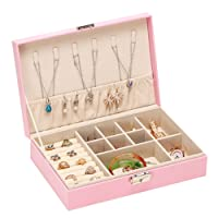 DELIBEST Jewelry Box, principessa europea Jewelry Storage box Lock orecchino singolo strato Storage box regalo di nozze