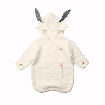 colinsa Saco de Dormir de Punto Bebé Saco de Dormir Pijama de Invierno y Spring y Otoño Suave Cómodo Lindo 0-8 Meses: Amazon.es: Hogar