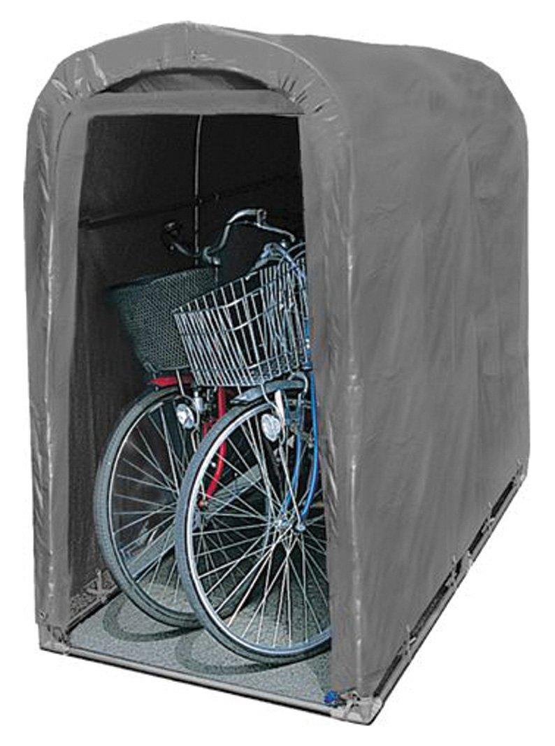 南榮工業 サイクルハウス 2台用 グレー B0721K12MM 11800
