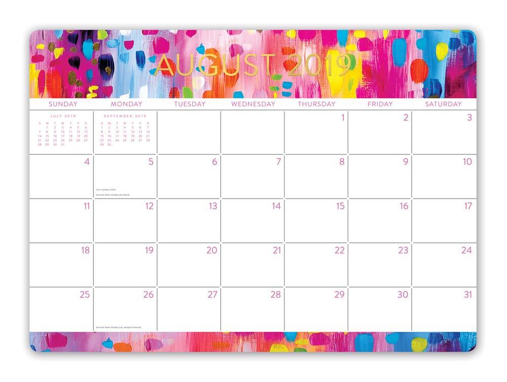 Orange Circle Studio 2020 Decorative Desk Blotter Calendar, Abstraction