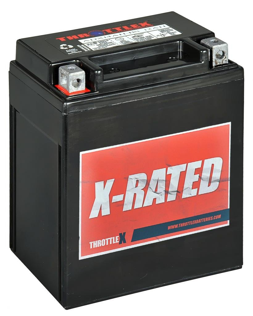 ADX14AH-BS - AGM Replacement Power Sport Battery by ThrottleX Batteries