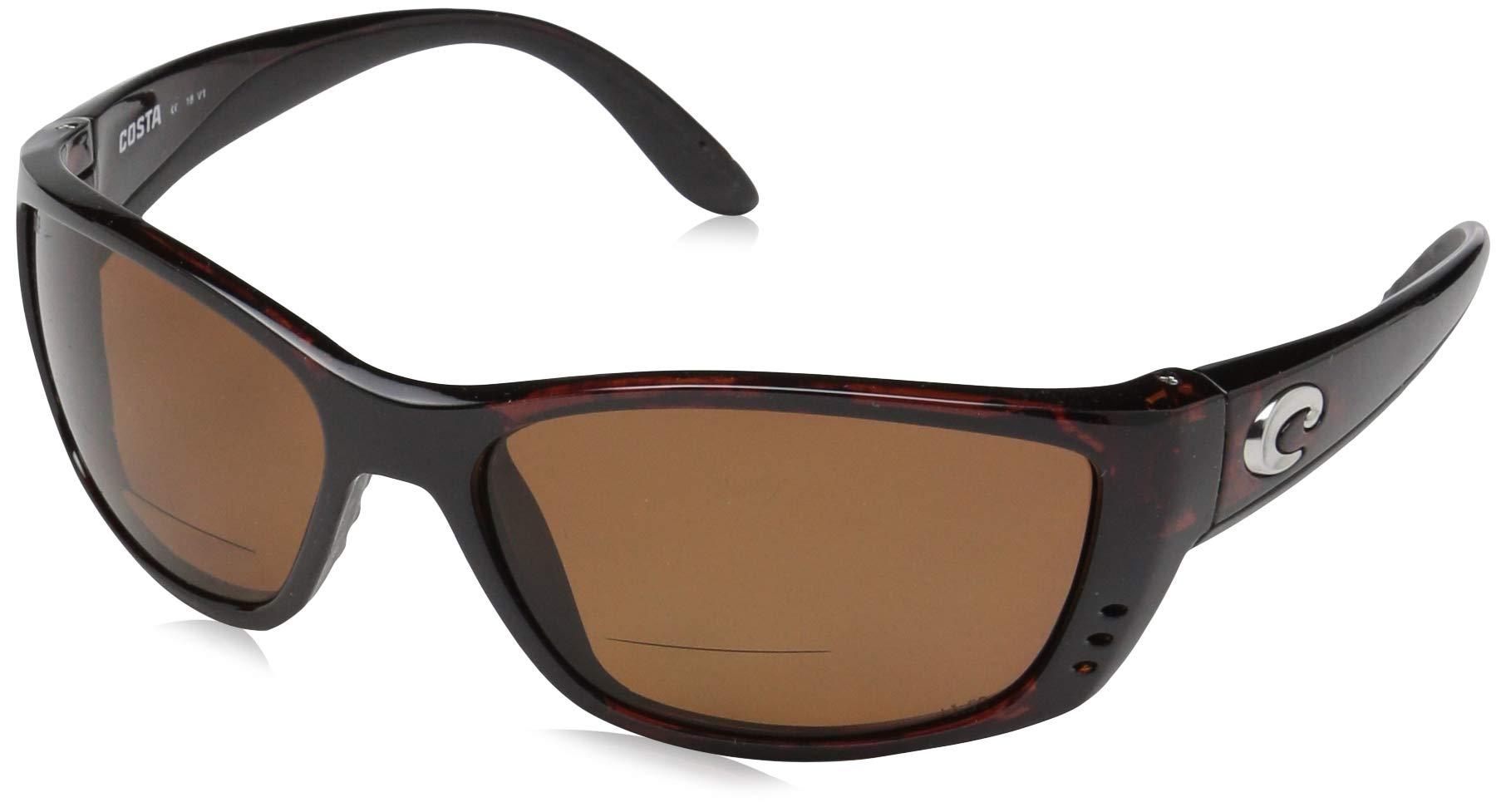 Costa Del Mar Fisch Sunglasses, Tortoise, Gray 580P Lens by Costa Del Mar