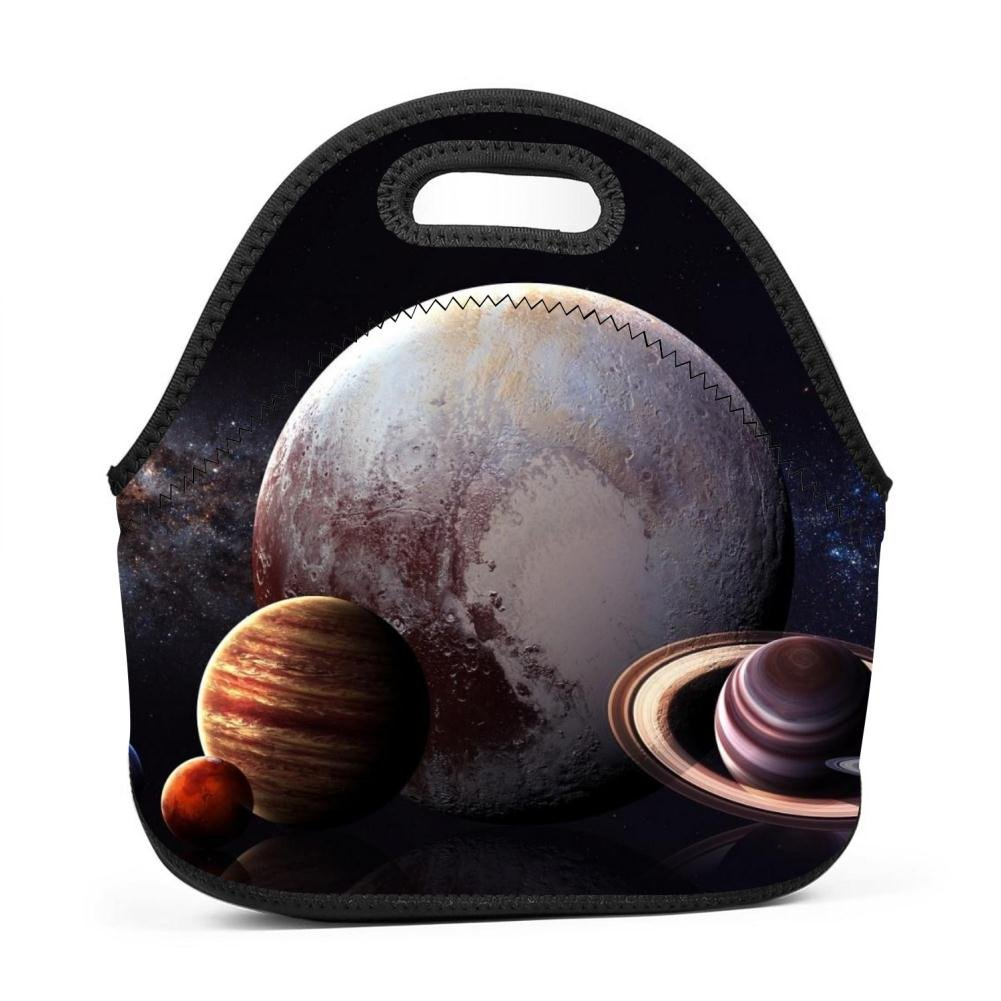 Hipster Lunch Tote Solar System Thick Insulated Thermal Lunch Bag for Outdoor Travel Picnic Office School