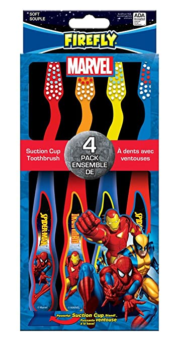 Amazon.com: Firefly Marvel Kids Soft Toothbrushes, 4 Count (Pack of 6): Beauty