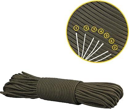 Charge de Rupture de 250 kg EDCX Paracord 550 Corde de Parachute 7 brins de Type III Mil-Spec C/âble de Survie