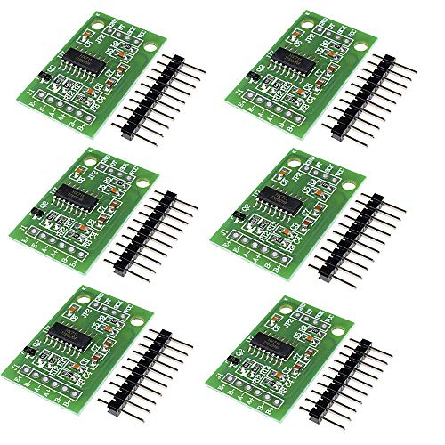 DiyStudio 6個 hx711重量計量ロードセル変換モジュールセンサーAdモジュールfor Arduinoマイクロコントローラ