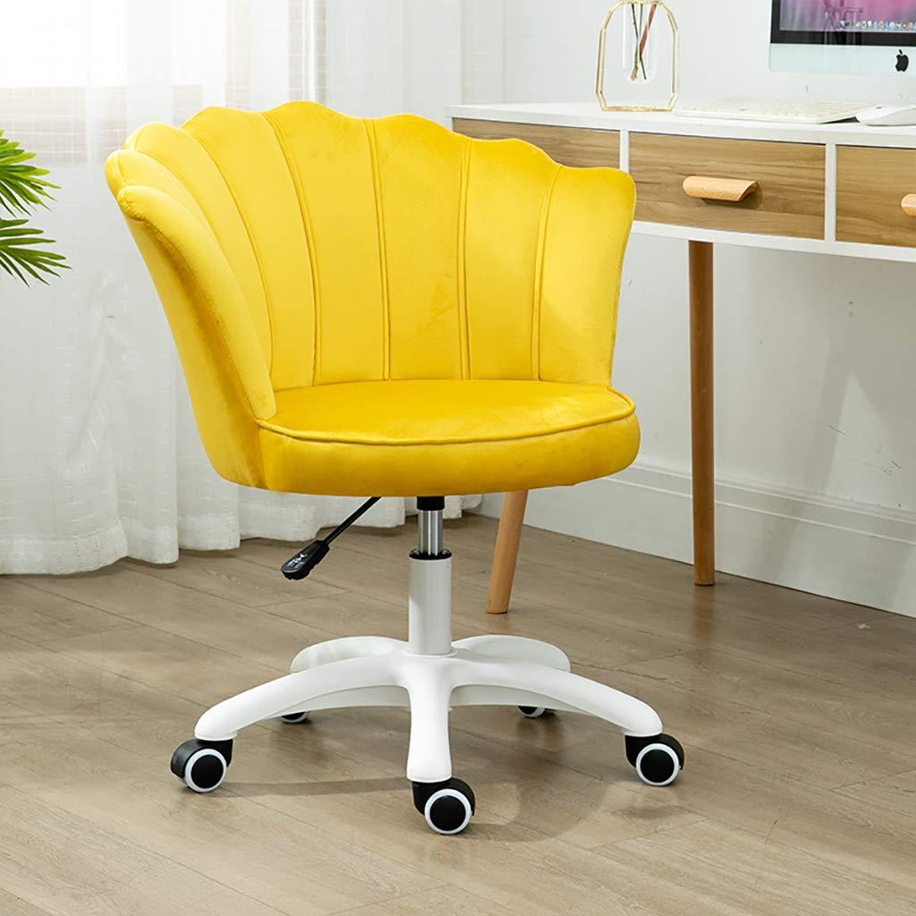 GAOPANG sammet kontorsstol ergonomisk svängbar stol datorstol för hem kontor mottagningsstol justerbar gUL