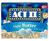 popcorn act 2 - Act II Popcorn Light Butter, 6 Count 78g. bags(Pack of 6)