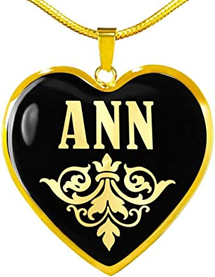 Pearl v02-18k Gold Finished Heart Pendant Luxury Necklace Personalized Name Gifts