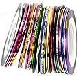 Katara, Set di 10 rotoli di nastri colorati adesivi per la nail art