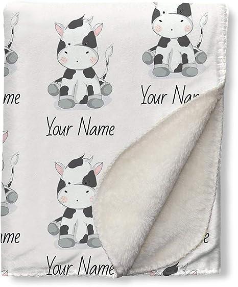 Cow Lovie Personalized with Name  Personalized Lovie Blanket  Personalized Security Blanket  Monogrammed Cow Lovie Blanket  Farm Animal