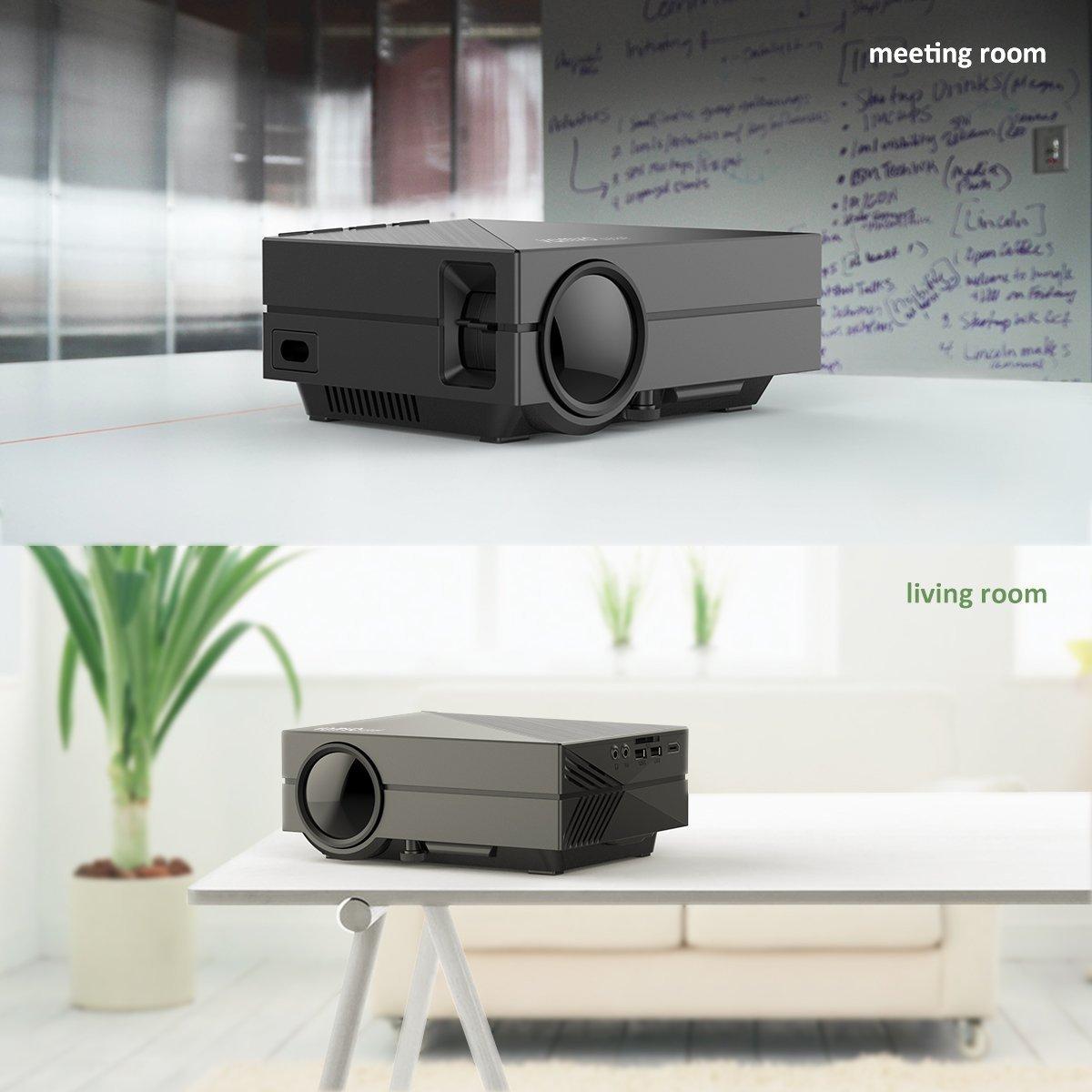Amazon.com: Vamvo WiFi Wireless Projector (black) Like New: Office ...