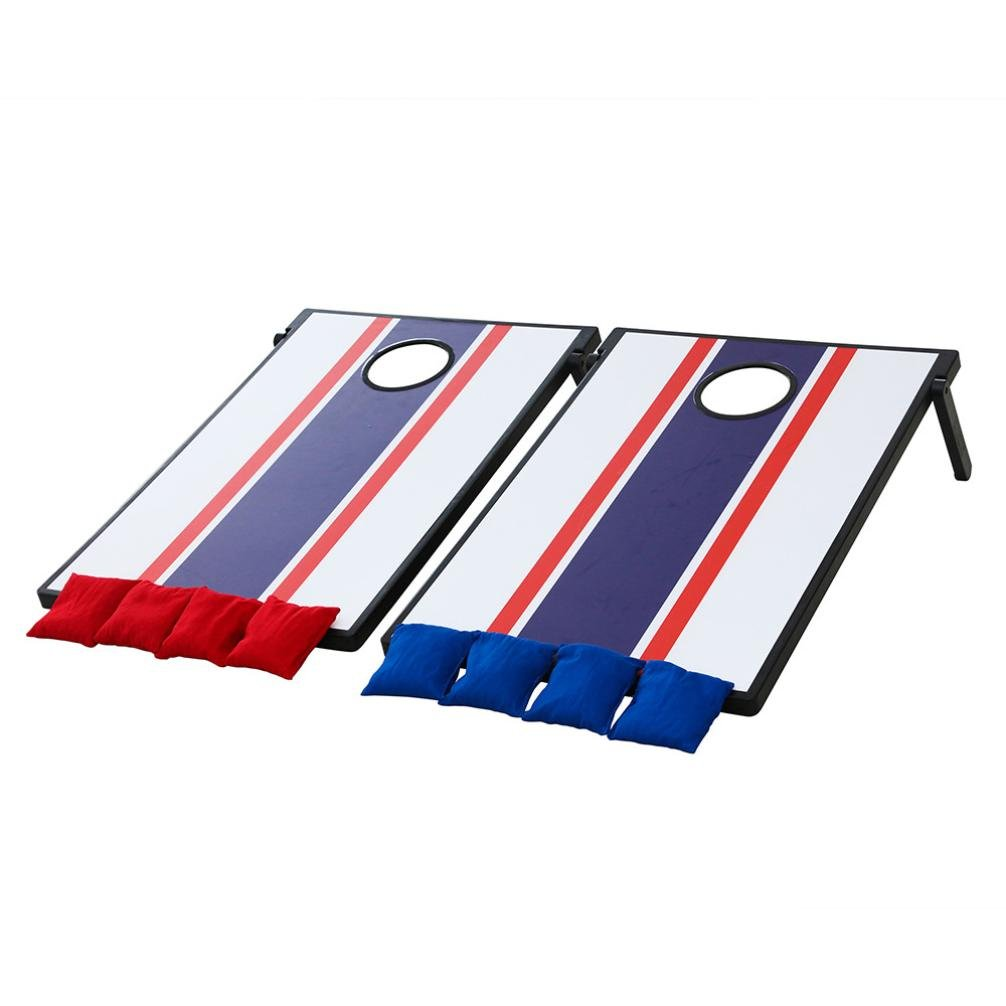 Hohaski Portable PVC Framed Cornhole Game Set with 8 Bean Bags and Travel Carrying Case - Choose France Flag Design
