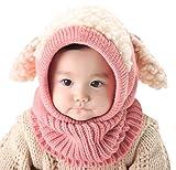 Baby Girls Boys Winter Hat Scarf Earflap Hood