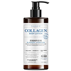 Rosen Apothecary Firming Collagen Body Lotion with Natural Coconut Oil for Firmness, Elasticity, Hydration, Revealing Tighter Looking Skin, for all Skin Types 32oz / 960ml