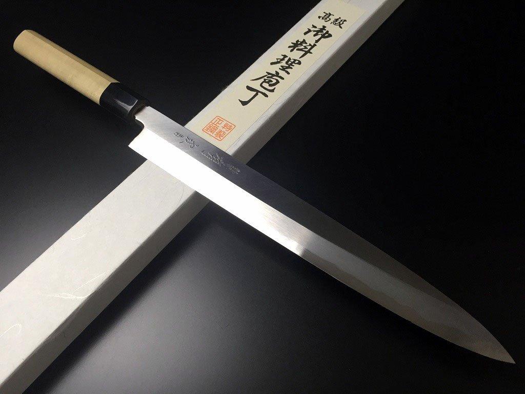 築地 有次 ARITSUGU 青鋼 別打 柳刃 270 mm 鞘付 包丁 開店祝い 名入れ 刺身 庖丁 刃物 ナイフ B07DT7SF1D