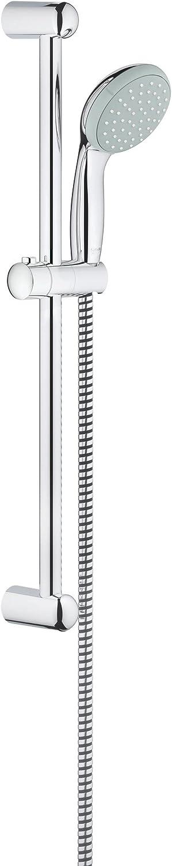 Grohe 27 924 000 New Tempesta 100. Conjunto de barra de ducha 1 chorro, Acero inoxidable, Minute/600mm: Amazon.es: Bricolaje y herramientas