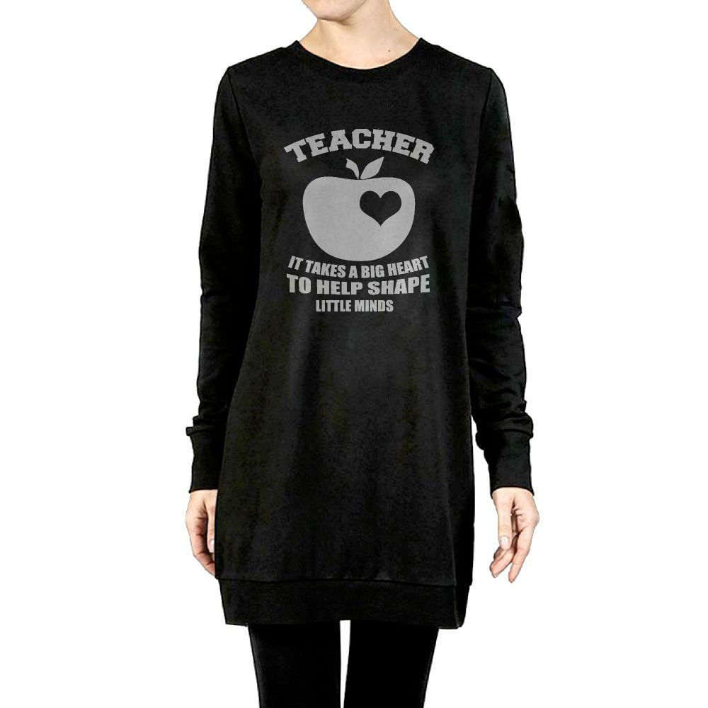 Beauty/&Fashions Teacher It Takes A Big Heart Womens Cotton Hoody Newest Long Pullover surcoat