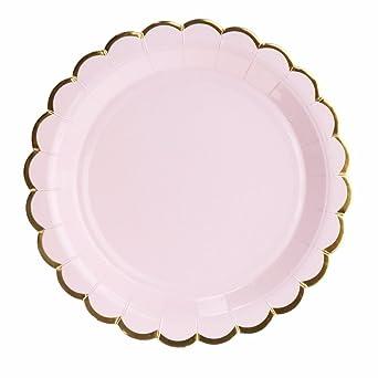 Amazon.com: 10 platos de papel desechables para fiestas de ...