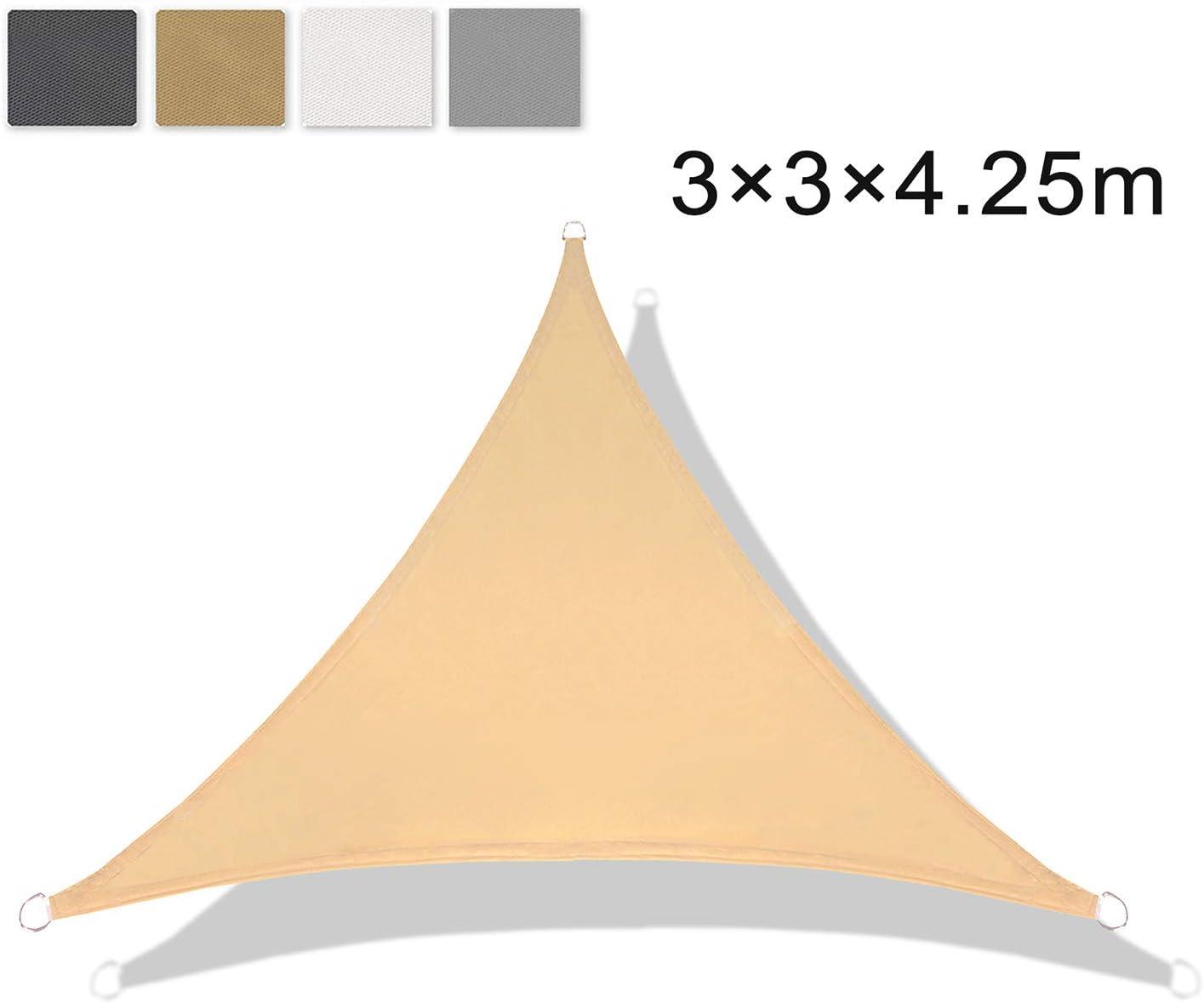 PES Rettangolare 2/×3m Beige Protezione UV per Terrazza Campeggio Giardino Esterno LOVE STORY Tenda da Vela Parasole Impermeabile