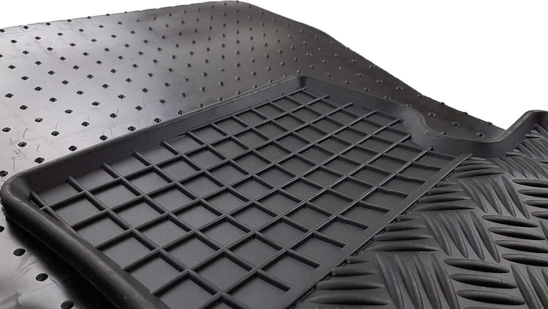 Noir ilTappetoAuto rigum904529/Tapis de Voiture sur Mesure en Caoutchouc v/éritable inodore