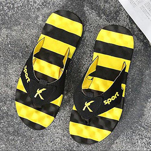 Antiscivolo Spiaggia Fondo Sandali Indoor Yellow Outdoor Moda Da Da Toe Open Estivo Mare Infradito Morbido Infradito Al Uomo Y4qw8Bx7