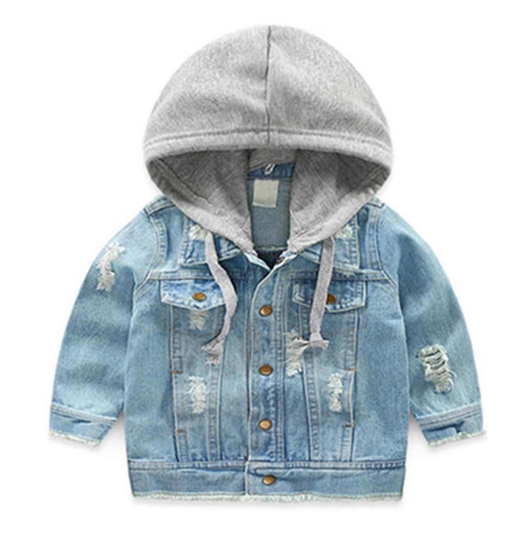 Melissa Wilde Denim Jackets for Boys Autumn Trench 3-8Y Hooded Outerwear Windbreaker Kids Jeans Coats