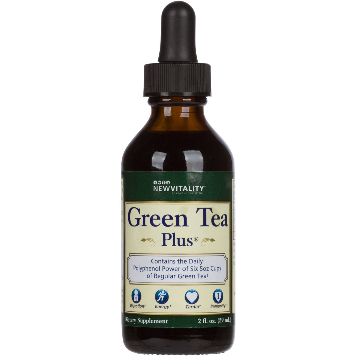 Green Tea Plus | Convenient & On the Go Concentrated High Antioxidant Extract to Support Healthy Metabolism (30 Day Supply) by New Vitality (Image #1)