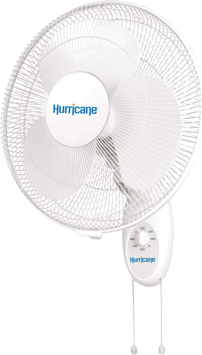 Amazon Com Hurricane Hgc736505 Wall Mount Fan 16 Inch Supreme Series 90 Degree Oscillation 3 Speed Settings Adjustable Tilt Etl Listed 16 Inch White Home Kitchen