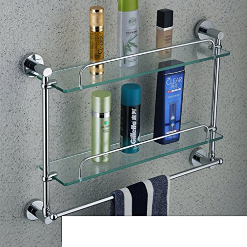 low-cost stainless steel glass racks/ with a single layer of makeup/towel rack-I