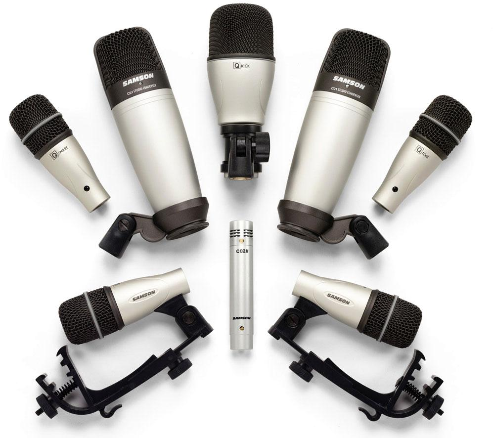 Drum Mic Setting : samson 8kit 8 piece drum microphone set musical instruments ~ Hamham.info Haus und Dekorationen