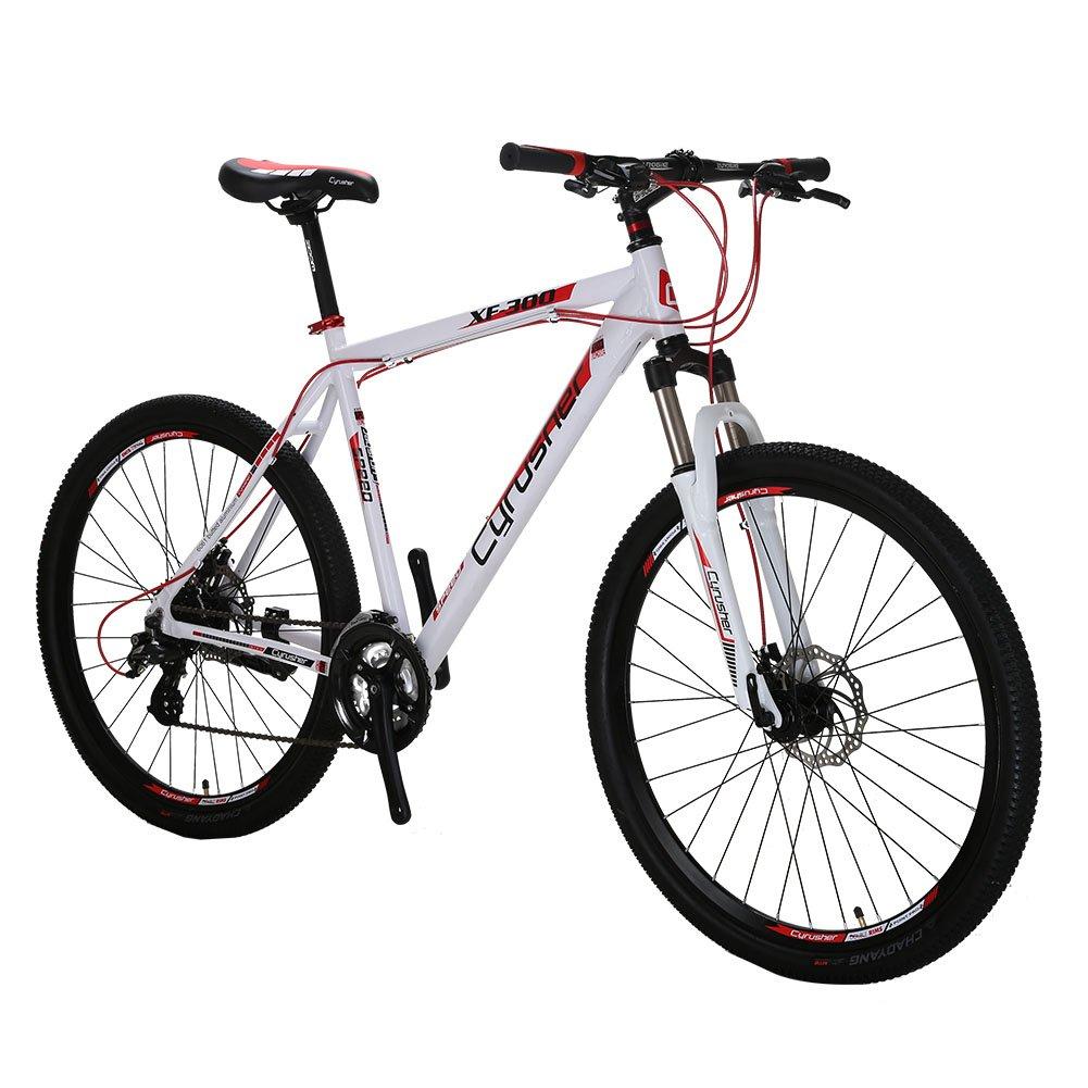 Extrbici XF300 自転車 マウンテンバイク MTB シマノ24段変速 タイヤ27.5インチ アルミフレーム ディスクブレーキ B0734PS5KB 白 白