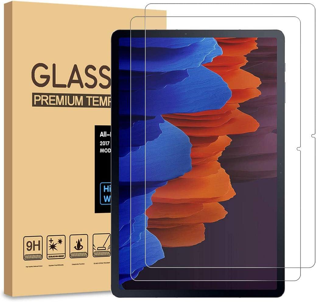 [2 Unidades] PULEN Protector de pantalla para Samsung Galaxy Tab S7 Plus / S7+ (12.4 inch) [Sin burbujas] [Anti-huella digital] [Resistencia a los arañazos] [HD] Cristal Vidrio Templado