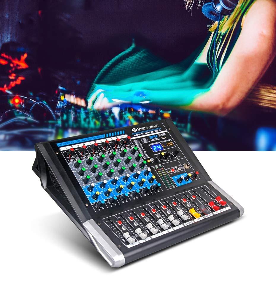 WANGYONGQI Audio DX-6 Controlador DJ del Mezclador de Audio ...