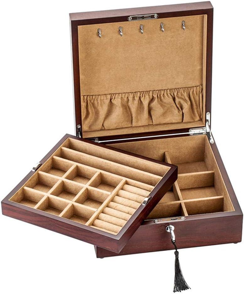 Laogg Caja Joyero Chino,Joyero con Cerradura de contraseña Caja de Almacenamiento Antiguo de Madera Maciza de Palo Rosa Muebles y Regalos orientales: Amazon.es: Hogar