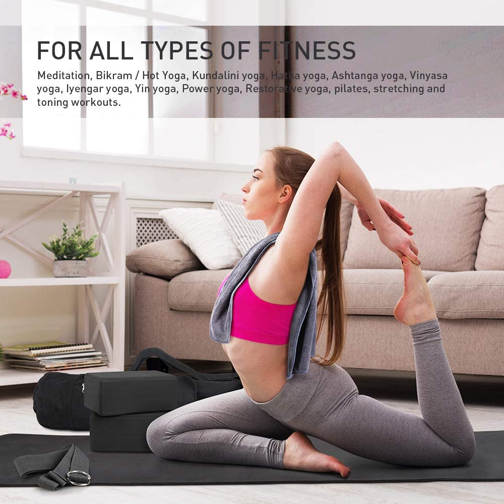 Amazon.com : JBM Yoga Set 7 Piece - 1 Yoga Bag, 1 Yoga Mat ...