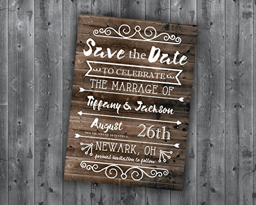 Save the Date Postcards, Save the Date Template, Wedding, Affordable, Cheap, Invite, Wood, Postcard, Barn, Summer, Outside, Rustic Country]()