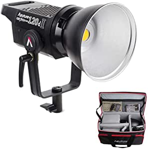 Aputure 120D Mark 2, 120D II LED, 180W Daylight Balanced Led Video Light, 30,000 lux@0.5m, CRI96+ TLCI97+, Support DMX, 5 Pre-Programmed Lighting Effects, Ultra Silent Fan