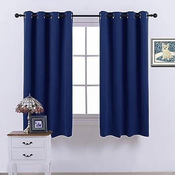 Blackout Curtains blackout curtains navy blue : Amazon.com: Nicetown Blackout Curtains - (Navy Blue Color) - 52 ...